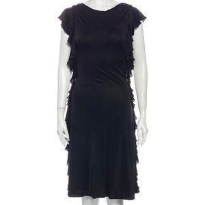 BALENCIAGA size 36 ruffle trimmed DRESS